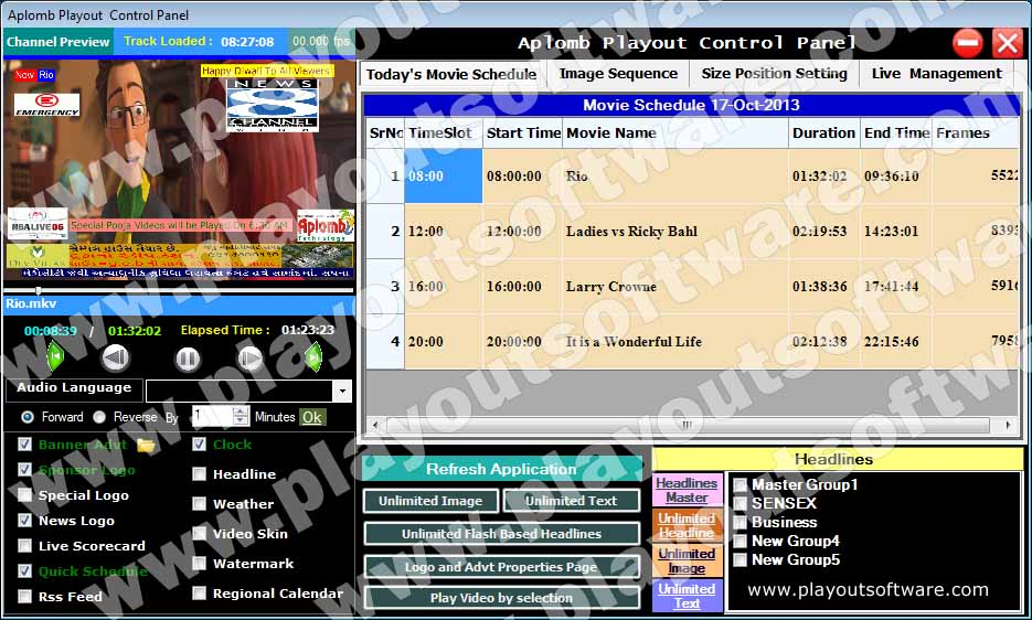 Movie Playout Software